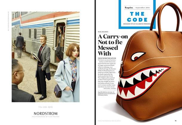 Article Preview: A Carry-on Not to Be Messed With, September 2016 | Esquire