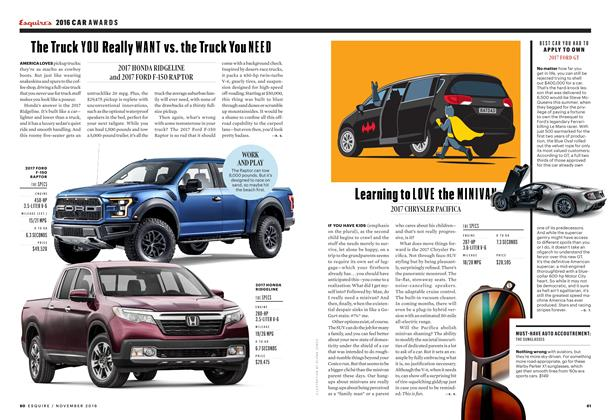 Article Preview: Learning to Love the Minivan, NOVEMBER '16 2016 | Esquire