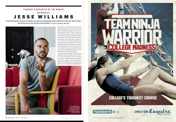 Article Preview: Jesse Williams, DECEMBER/JANUARY '17 2016 | Esquire