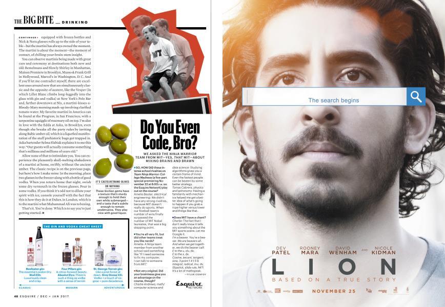 Do You Even Code, Bro? | Esquire | DECEMBER/JANUARY '17