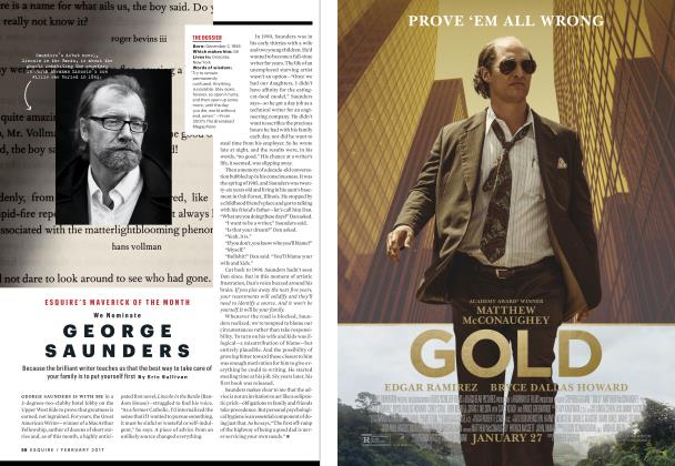 Article Preview: George Saunders, FEBRUARY 2017 2017 | Esquire
