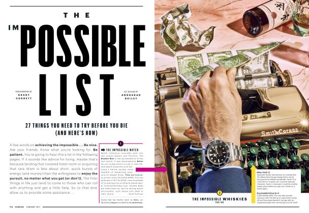 Article Preview: The Impossible List, FEBRUARY 2017 2017 | Esquire