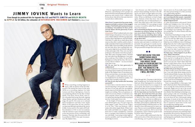Article Preview: Jimmy Iovine Wants to Learn, JUNE + JULY '17 2017 | Esquire