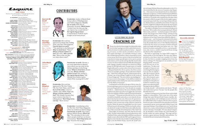 Article Preview: Cracking Up, JUNE + JULY '17 2017 | Esquire