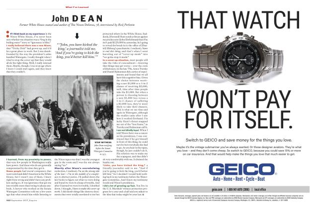 Article Preview: John Dean, September 2017 | Esquire