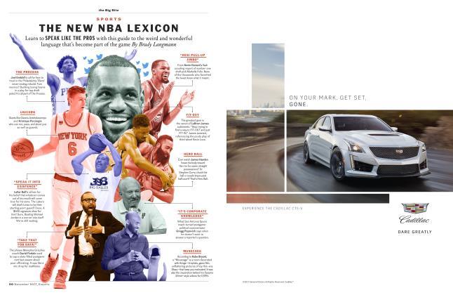 Article Preview: The New NBA Lexicon, NOVEMBER '17 2017 | Esquire