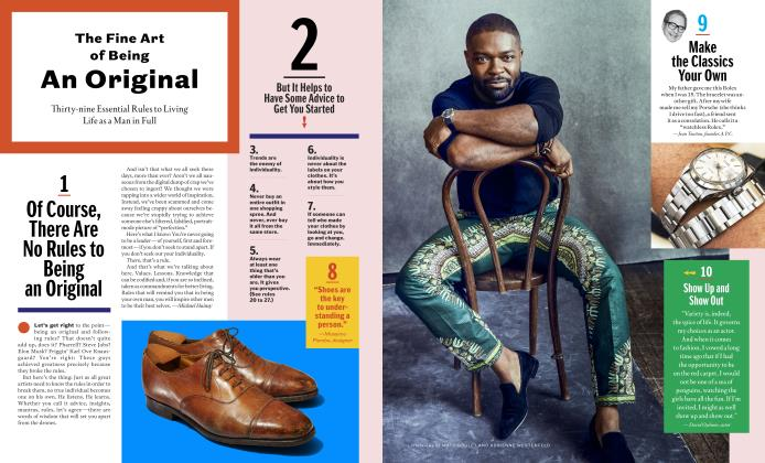 Article Preview: The Fine Art of Being An Original, Spring + Summer 2018 2018   Esquire