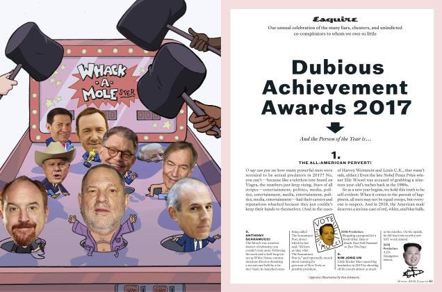 Dubious Achievement Awards 2017