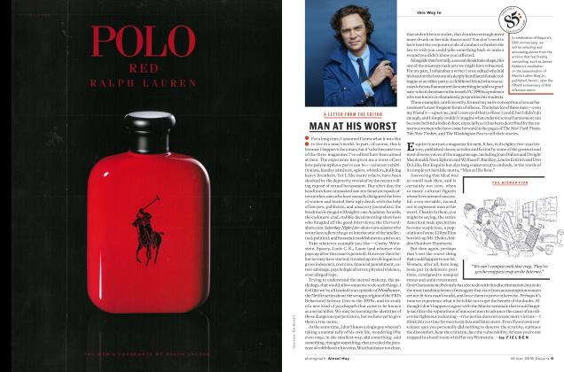 Article Preview: Man at His Worst, WINTER '18 2018   Esquire