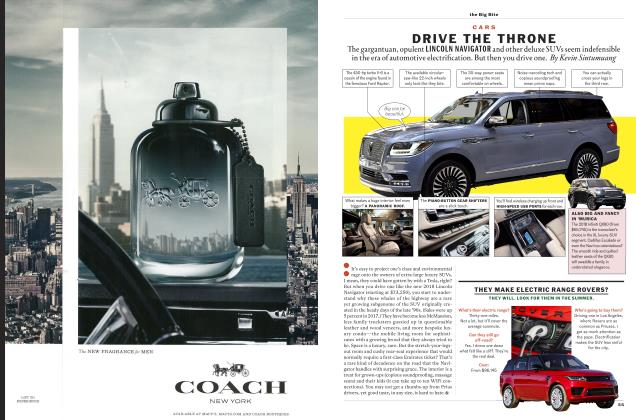 Article Preview: DRIVE THE THRONE, MARCH '18 2018 | Esquire