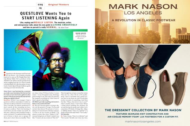 Article Preview: Questlove Wants You to Start Listening Again, April 2018 | Esquire