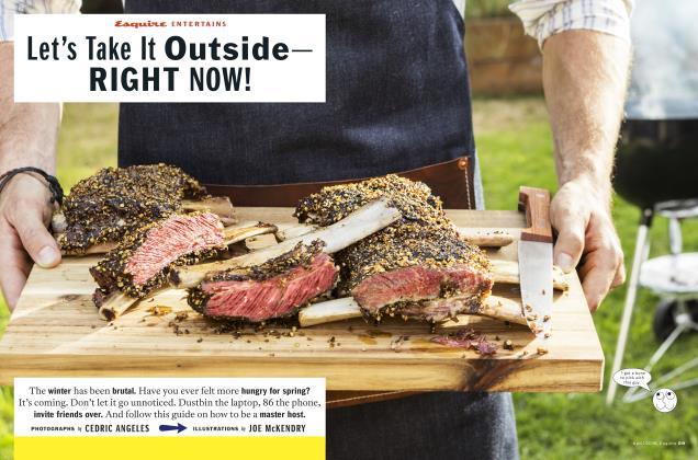 Article Preview: Let's Take It Outside— Right Now!, April 2018 | Esquire