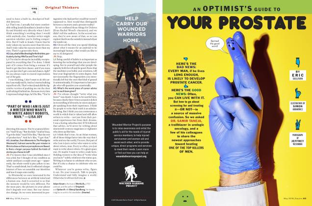 Article Preview: AN OPTIMIST'S GUIDE TO YOUR PROSTATE, May 2018 | Esquire