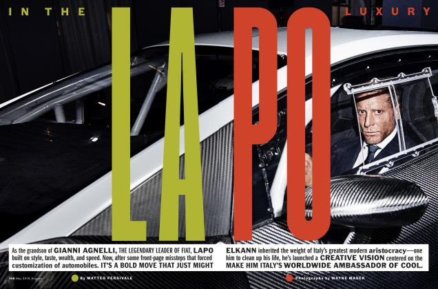 Article Preview: IN THE LAPO LUXURY, May 2018 | Esquire